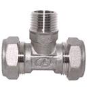 тройник труба-наружная резьба-труба никелированный BT15*1/2″(M)N