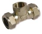 тройник труба-внутренняя резьба-труба никелированный усиленный BIT32*1'*32(F)NHP