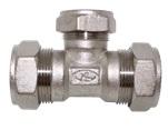 тройник труба-труба-труба никелированный BT15-15-15N