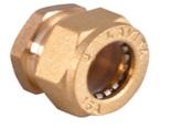 заглушка для гофрированной трубы никелировання усиленная BS15*1/2″(W)NHP
