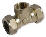 тройник труба-внутренняя резьба-труба никелированный BIT25*1*25(F)N