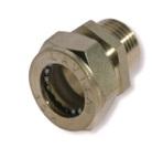 муфта труба-наружная резьба никелированная BC25*1″(M)N