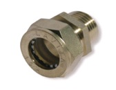 муфта труба-наружная резьба никелировання усиленная BC25*3/4″(M)NHP