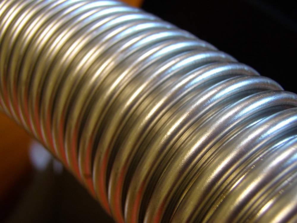 труба гофрированная из нержавеющей стали AISI304 8GF, неотожженная