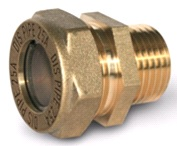 муфта труба- наружная резьба латунная ВС15*1/2″ (м)