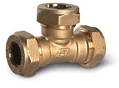 тройник труба-труба-труба латунный BT25-25-25