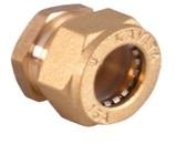 заглушка для гофрированной трубы никелированная BS15*1/2″(W)N