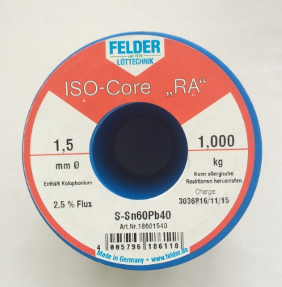 припой ф1,5мм S-Sn60Pb40, DIN EN 29453, 2,5%