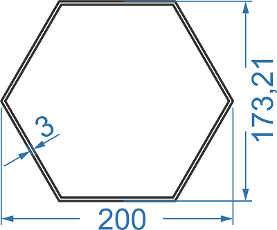 труба алюминиевая шестигранная 200х173.21х3 АД31